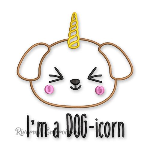 I'm A Dog-Icorn Dog Unicorn Machine Embroidery Design