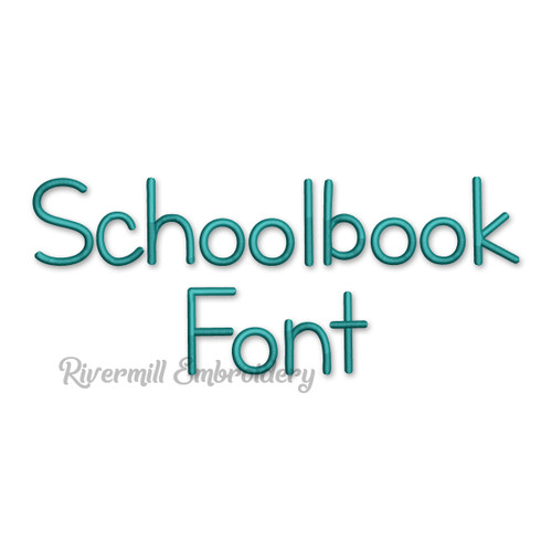 Schoolbook Font Machine Embroidery Alphabet