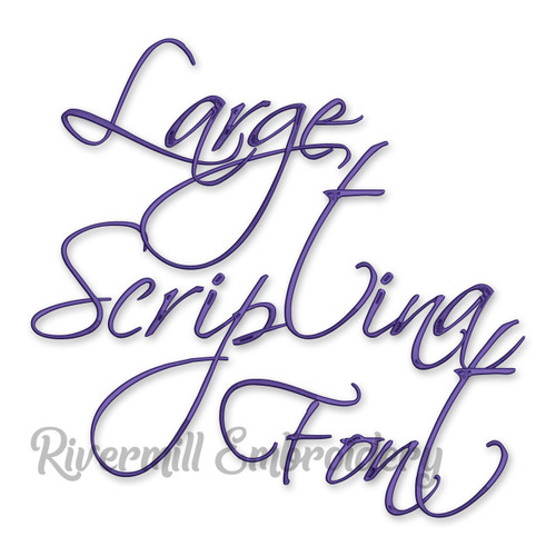 Large Scriptina Machine Embroidery Font Alphabet