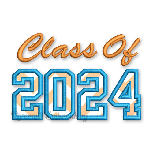 Class of 2024 Applique Machine Embroidery Design