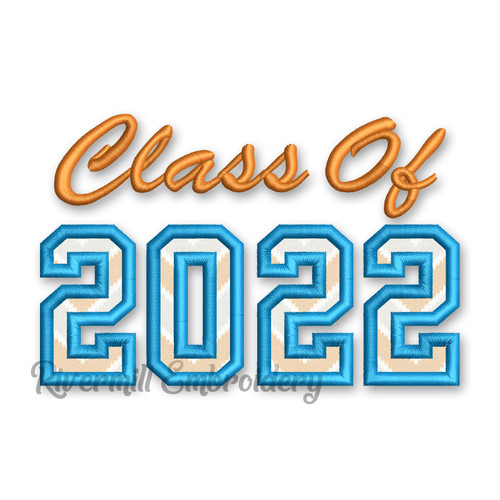 Class of 2022 Applique Machine Embroidery Design