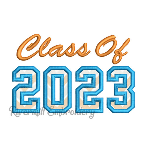 Class of 2023 Applique Machine Embroidery Design