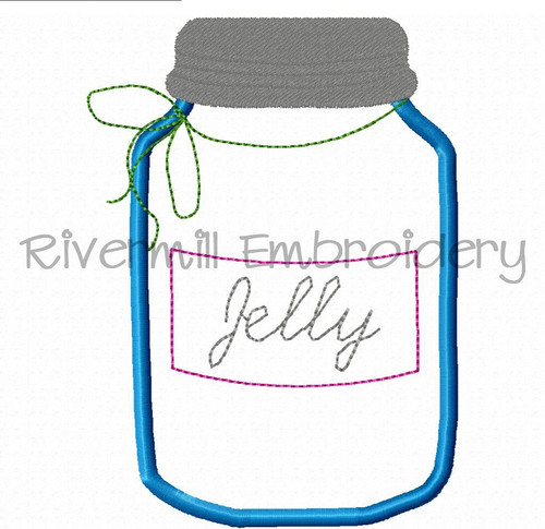 Applique Jelly Jar Machine Embroidery Design