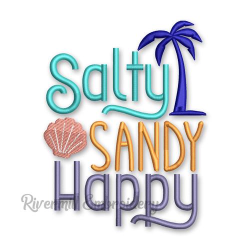 Salty Sandy Happy Machine Embroidery Design