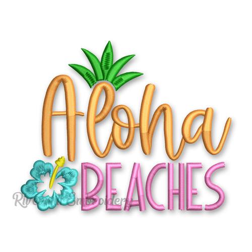 Aloha Beaches Machine Embroidery Design