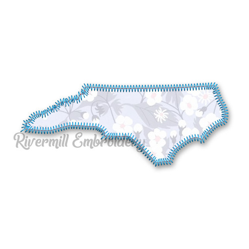 Zig Zag Applique State of North Carolina Machine Embroidery Design