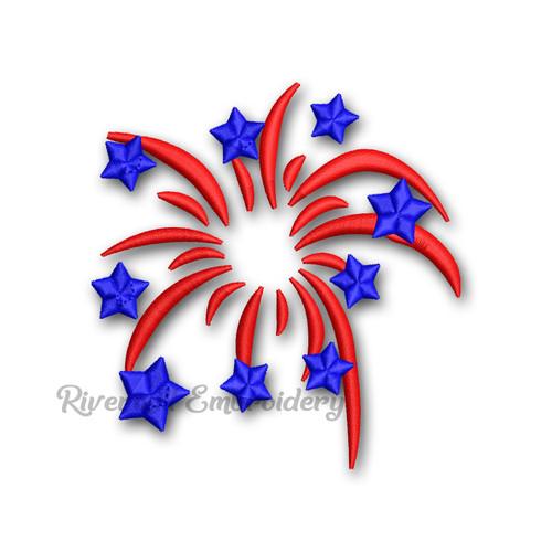 Small Firework Machine Embroidery Design