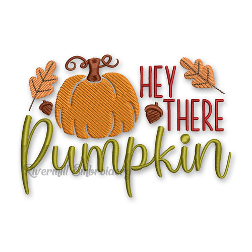 Hey There Pumpkin Machine Embroidery Design