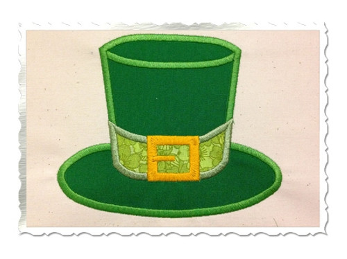 Leprechaun Hat Applique Machine Embroidery Design