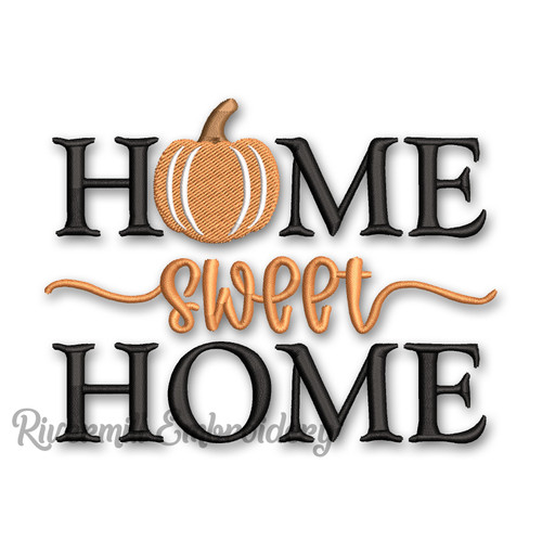 Home Sweet Home Fall Machine Embroidery Design