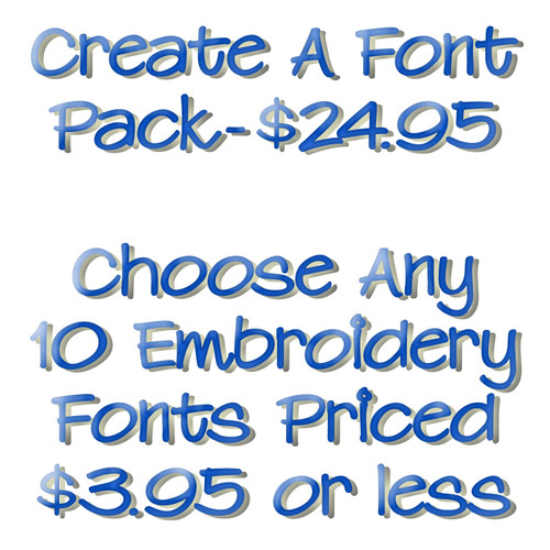 Choose Your Own Embroidery Font Package