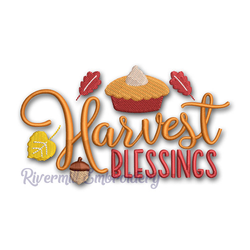 Harvest Blessings Machine Embroidery Design