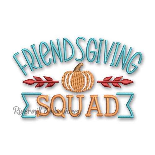 Friendsgiving Squad Machine Embroidery Design