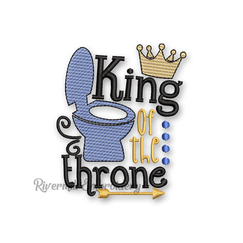 King Of The Throne Toilet Paper Machine Embroidery Design