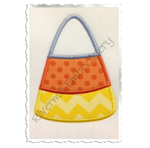 Applique Candy Corn Machine Embroidery Design