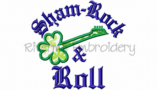 Applique Shamrock And Roll Machine Embroidery Design