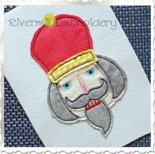 Nutcracker Face Raggy Applique Machine Embroidery Design