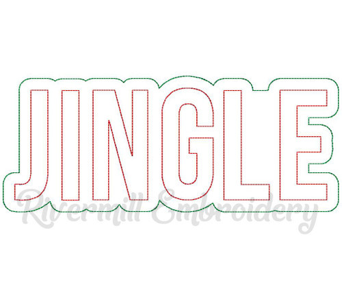 Raggy Double Applique Jingle Machine Embroidery Design