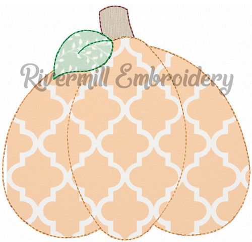 Raggy Applique Pumpkin Machine Embroidery Design (Style 4)