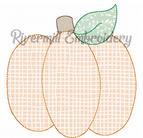 Raggy Applique Pumpkin Machine Embroidery Design (Style 5)