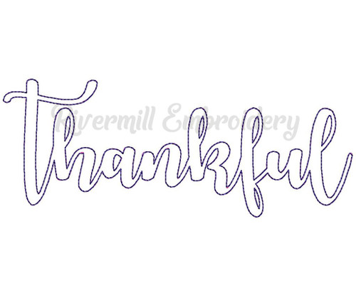 Raggy Applique Thankful Machine Embroidery Design