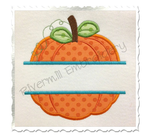 Split Applique Pumpkin Machine Embroidery Design