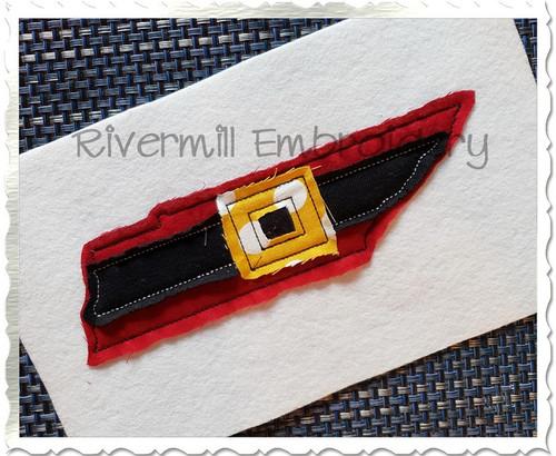 Tennessee w/ Santa Belt Raggy Applique Machine Embroidery Design