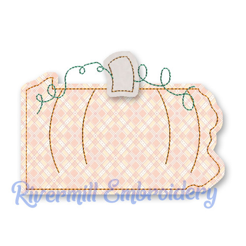 Raggy Applique Pennsylvania as a Pumpkin Machine Embroidery Design