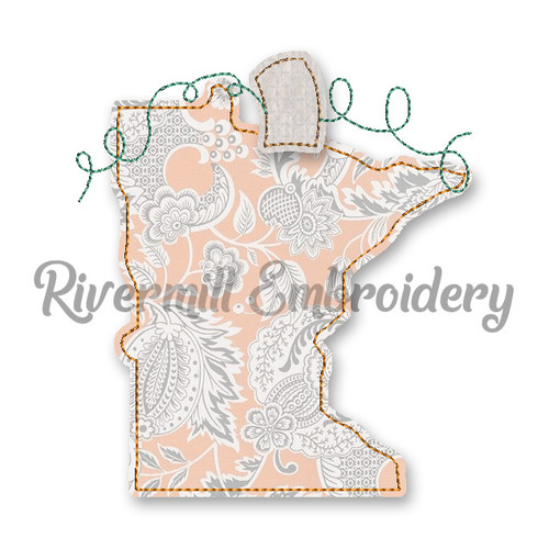 Raggy Applique Minnesota as a Pumpkin Machine Embroidery Design
