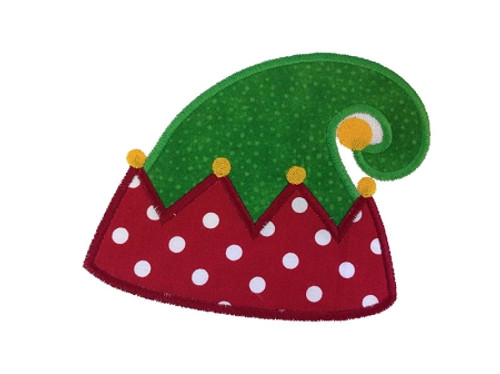 Christmas Elf Hat Applique Machine Embroidery Design
