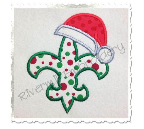 Santa Fleur De Lis Applique Machine Embroidery Design