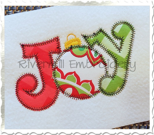 Zig Zag Applique Joy Machine Embroidery Design