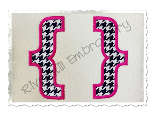 Applique Brackets Machine Embroidery Design
