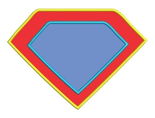 Applique Super Hero Shield Machine Embroidery Design
