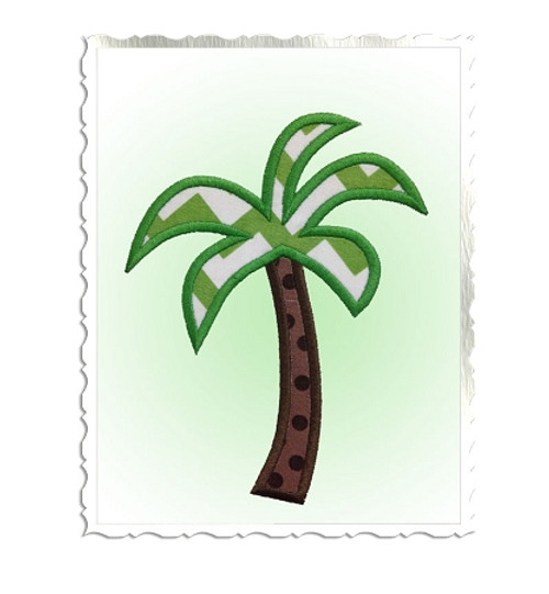 Palm Tree Applique Machine Embroidery Design