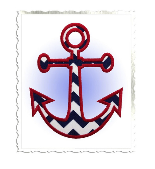 Anchor Applique Machine Embroidery Design