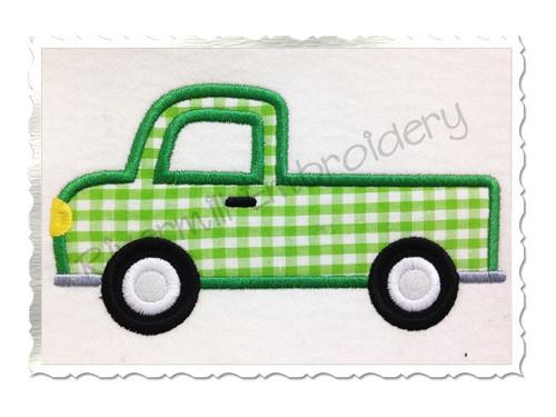 Truck Applique Machine Embroidery Design