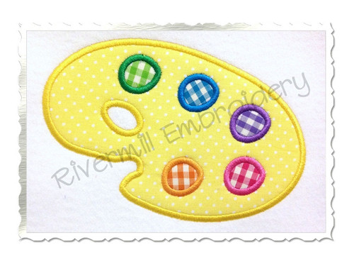 Applique Artist Palette Machine Embroidery Design