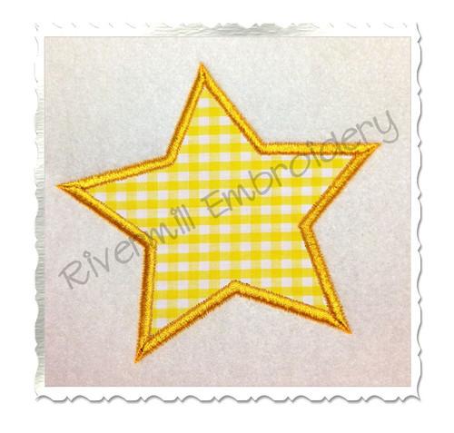 Star Applique Machine Embroidery Design