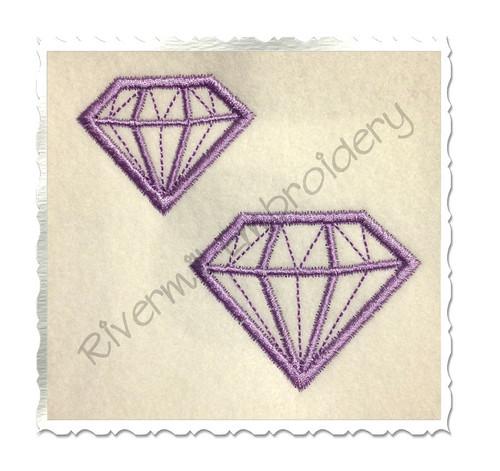 Small Diamond Applique Machine Embroidery Design