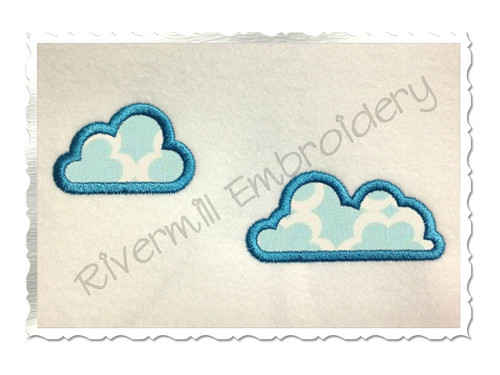 Cloud Applique Machine Embroidery Design