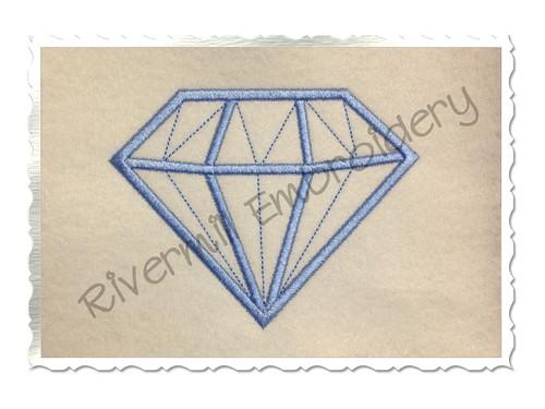 Diamond Applique Machine Embroidery Design