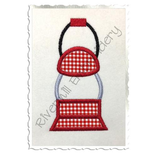 Camping Lantern Applique Machine Embroidery Design