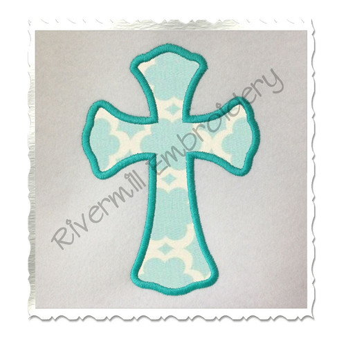 Applique Cross Machine Embroidery Design