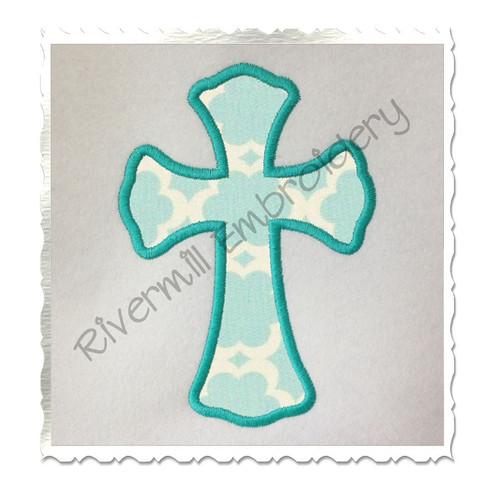 Applique Cross Machine Embroidery Design
