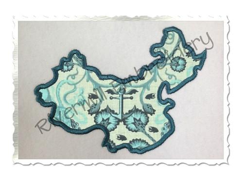 Applique China Machine Embroidery Design