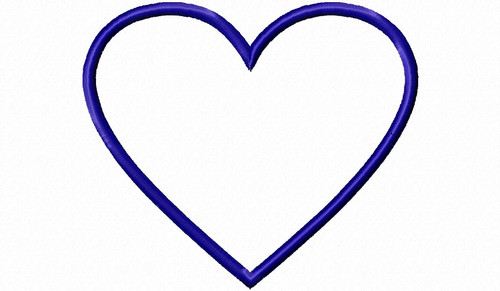 Heart Applique Machine Embroidery Design