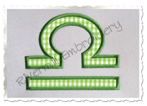 Applique Libra Astrology Symbol Machine Embroidery Design