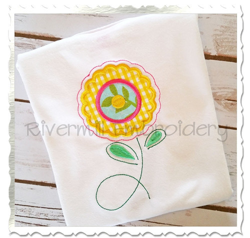 Applique Flower Machine Embroidery Design (#2)