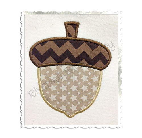Applique Acorn Machine Embroidery Design